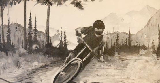 Mountain Biker at Red Mountain by Scott Dickson
