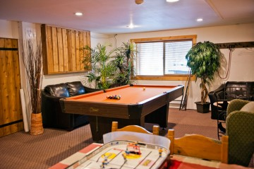 The games room at the Rams Head Inn at Red Mountain