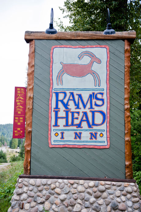Rams Head Inn - Road Sign