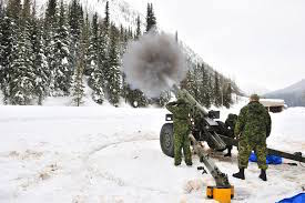 Avalanche control at Rogers Pass in BC by Canadian Army